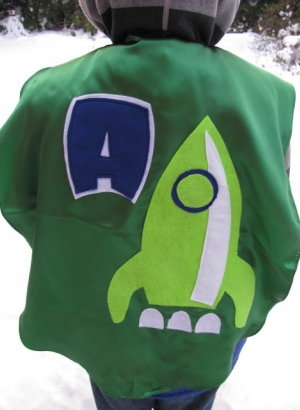 custom kids capes,superhero costumes,rocketship,cape