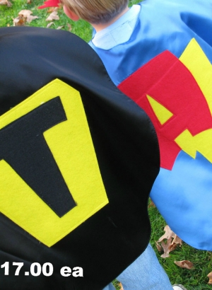 custom kids capes, superhero costumes