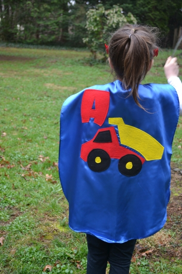 superhero cape,dumptruck kid,dumptruck cape