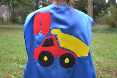 dump truck cape,kids dumptruck,superhero cape