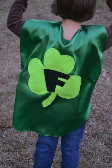st patricks day costume, green cape, shamrock costume